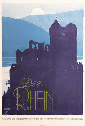 Poster illustrating the Rhine