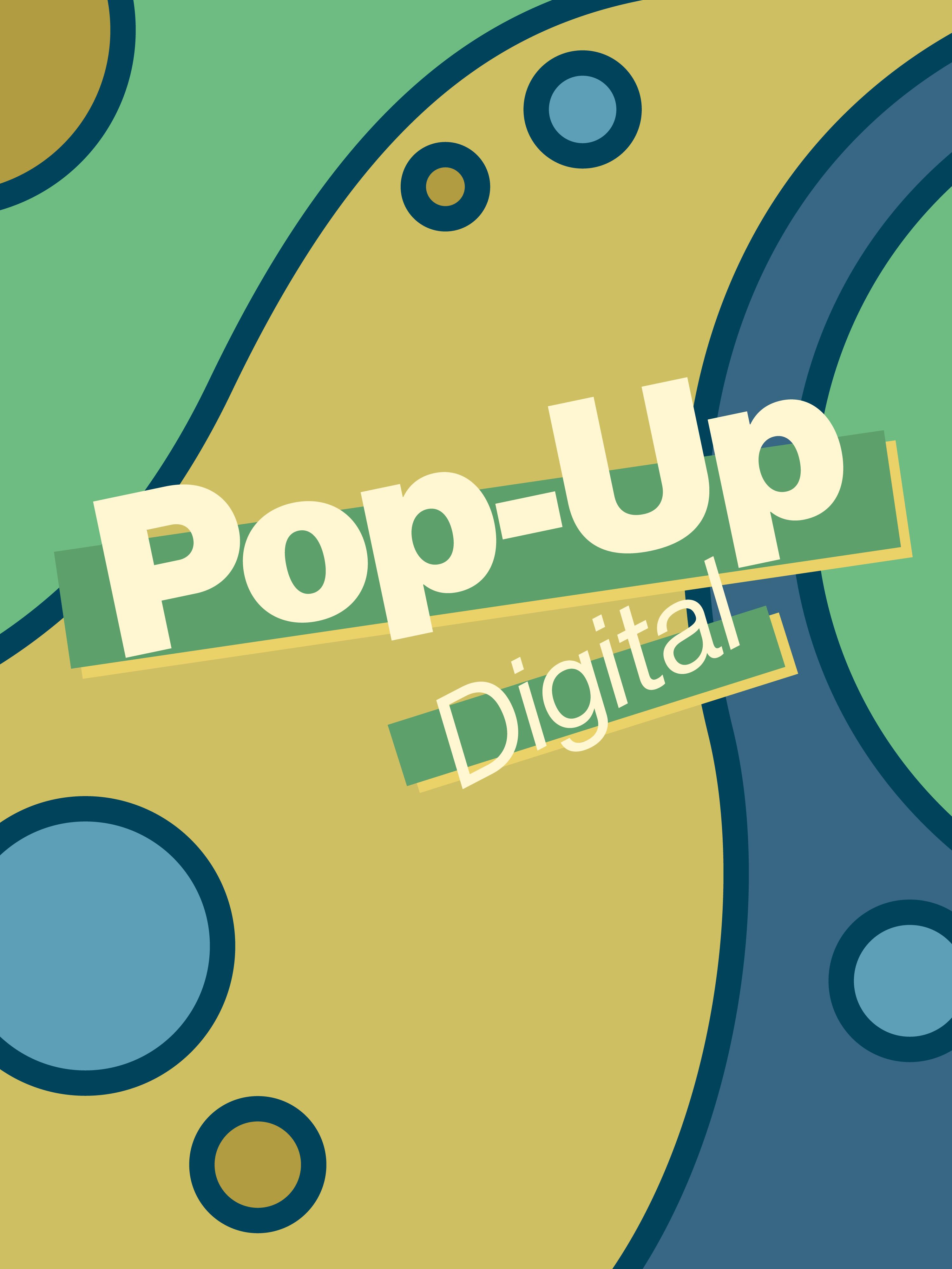 Pop-Up Digital exhibition poster